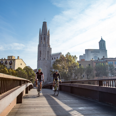 Girona city is bike friendly