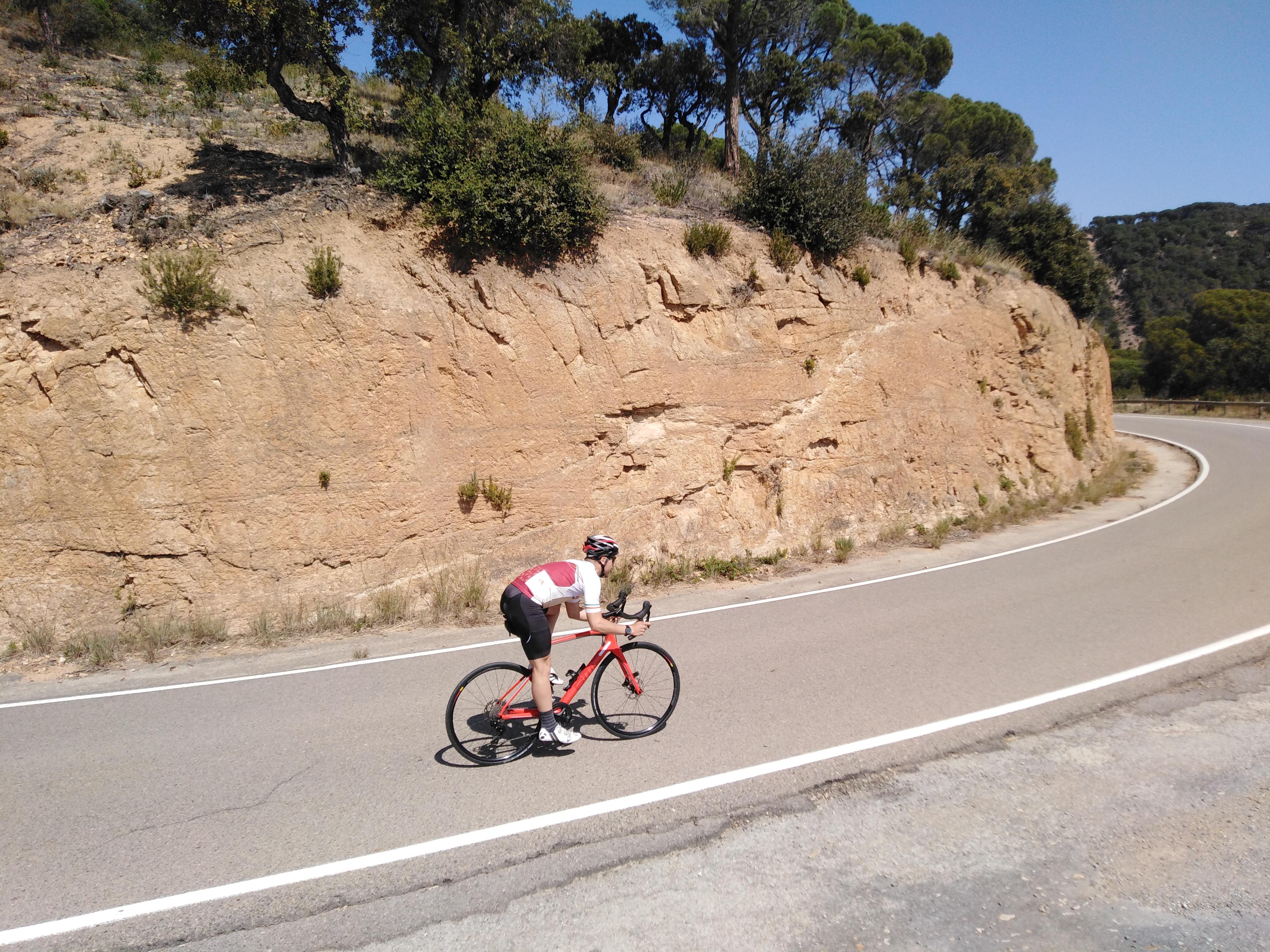 Fran pedalant