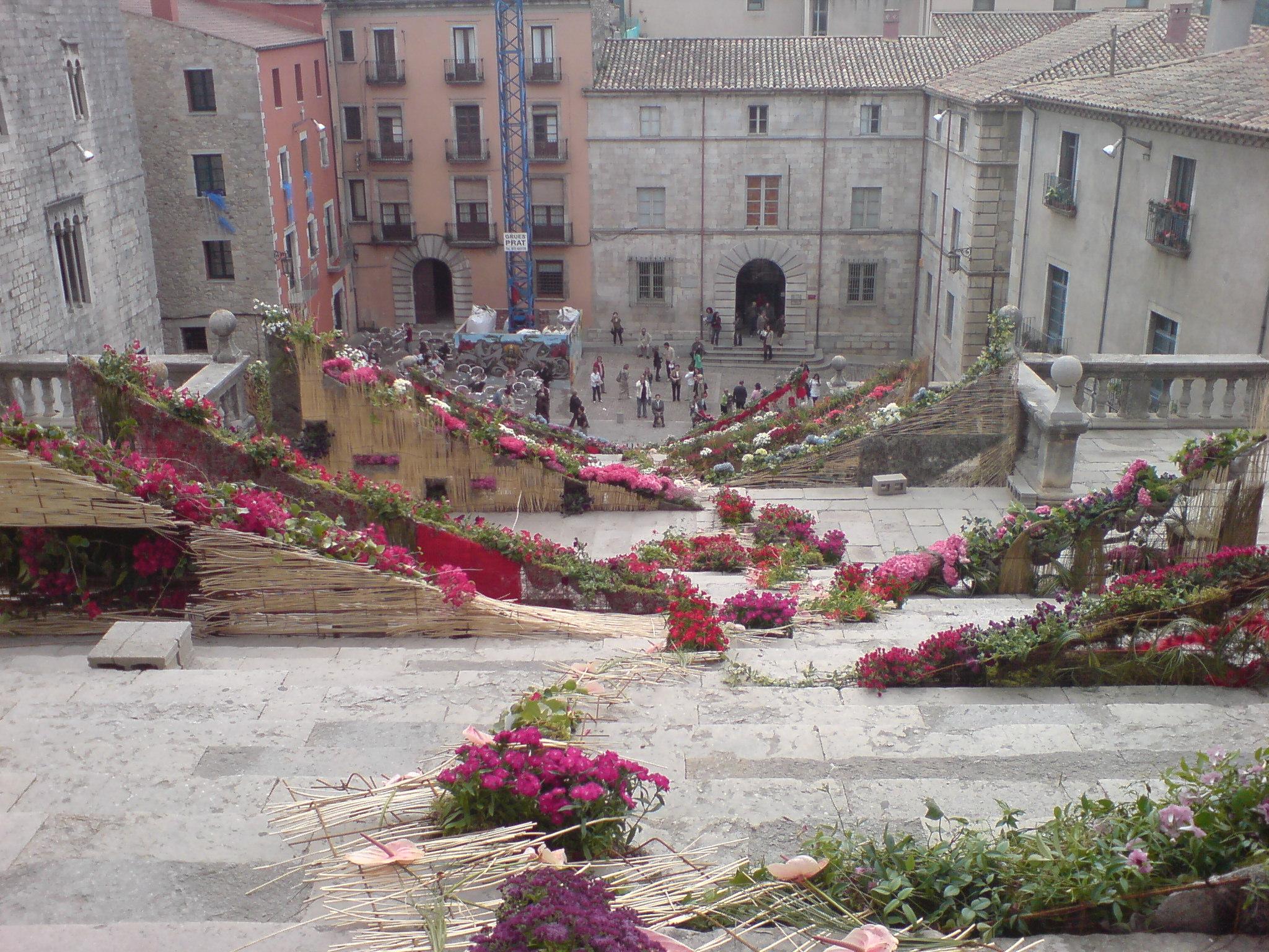 Escales de la catedral per Girona Temps de Flors