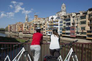 Vista de les cases de l'onyar a Girona