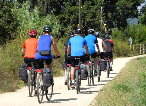 Touring bike routes in Girona