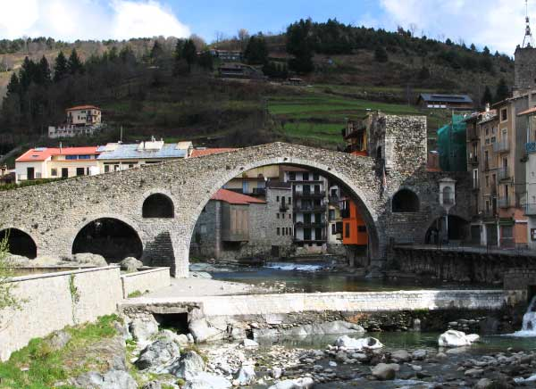 Camprodon's bridge in the Catalan Pyrenees