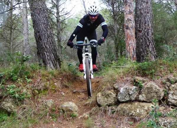 Mountain biking along Les Gavarres