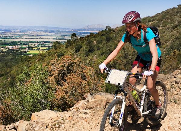 Mountain biking through Les Gavarres mountains