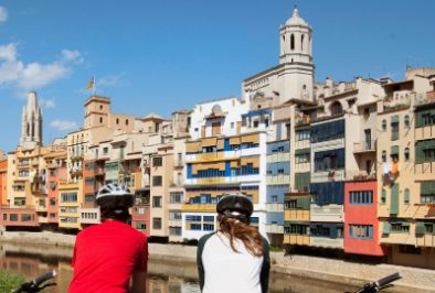 Cycling in the city of Girona