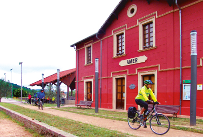 Ancient train station of the greenway cycle path between Olot and Sant Feliu de Guíxols