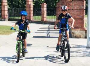 Kids cycling on the greenways