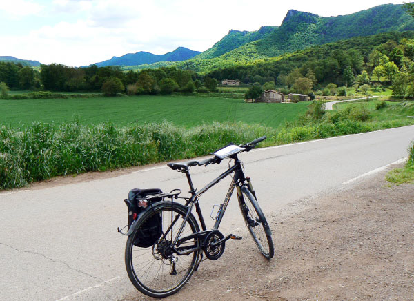 Cycling from Banyoles to Olot