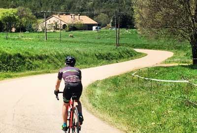 Road biking in the Emporda's lands