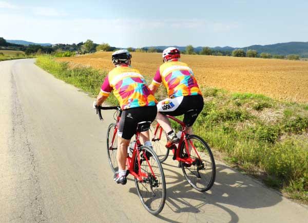Road bike day trip in Girona Countryside