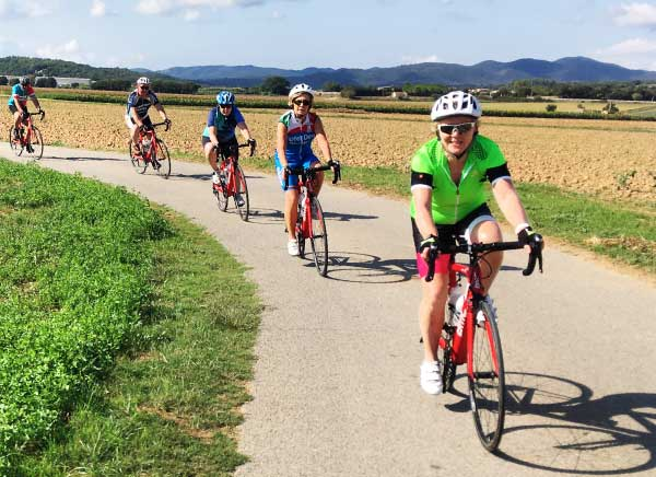 Road biking in the Emporda