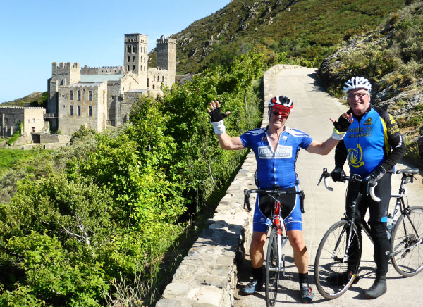 Cycling onto Sant Pere de Rodes monastery